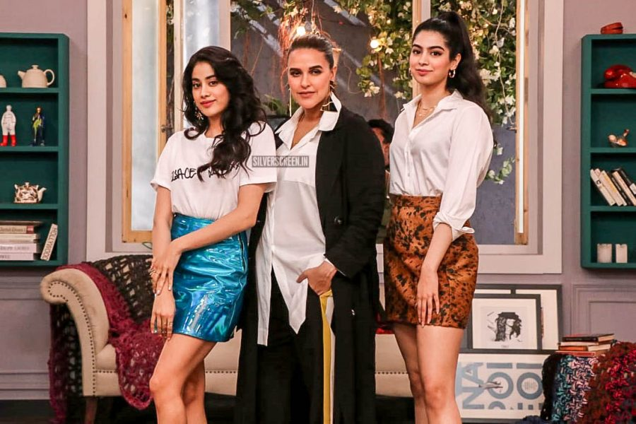 Janhvi Kapoor, Neha Dhupia On The Sets Of Vogue BFFs Show