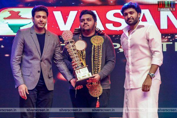 Jayam Ravi, Karthi, Vikram Prabhu At An Award Event In Chennai