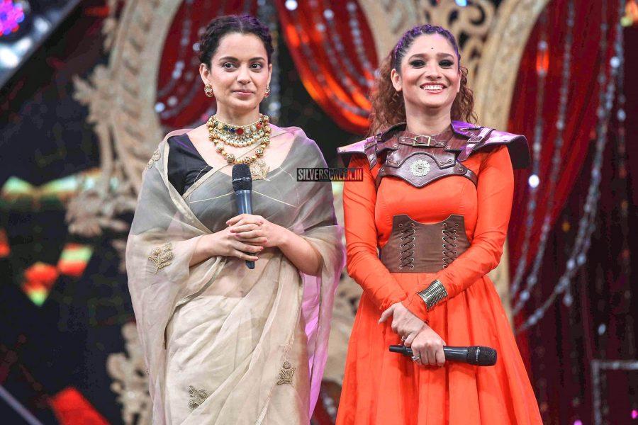 Kangana Ranaut, Ankita Lokhande Promote 'Manikarnika-The Queen Of Jhansi' On The Sets Of Sa Re Ga Ma