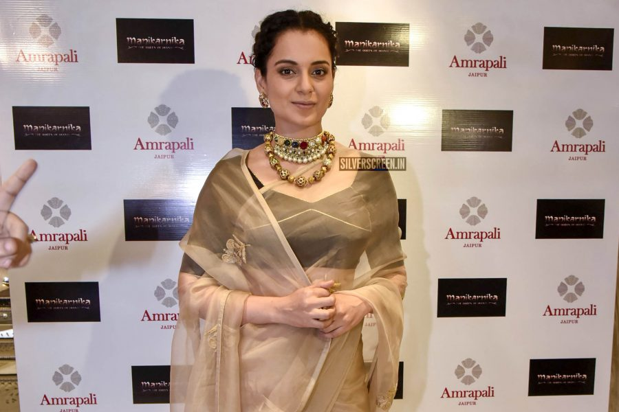 Kangana Ranaut At The Launch of 'Manikarnika–The Queen Of Jhansi' Jewellery Collection