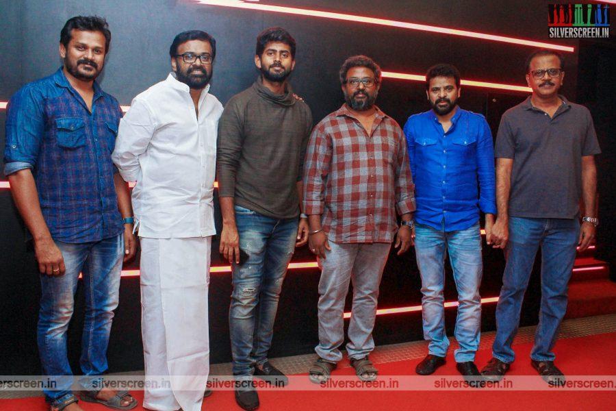Karu Pazhaniappan, Kathir, Ameer At The 'Sigai' Movie Premiere