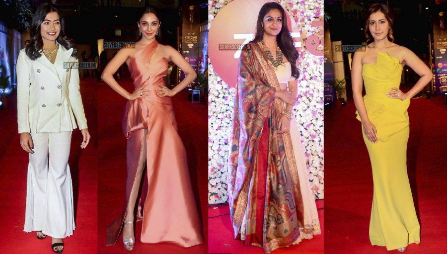 Keerthy Suresh, Raashi Khanna, Kiara Advani At The Zee Cine Awards 2018