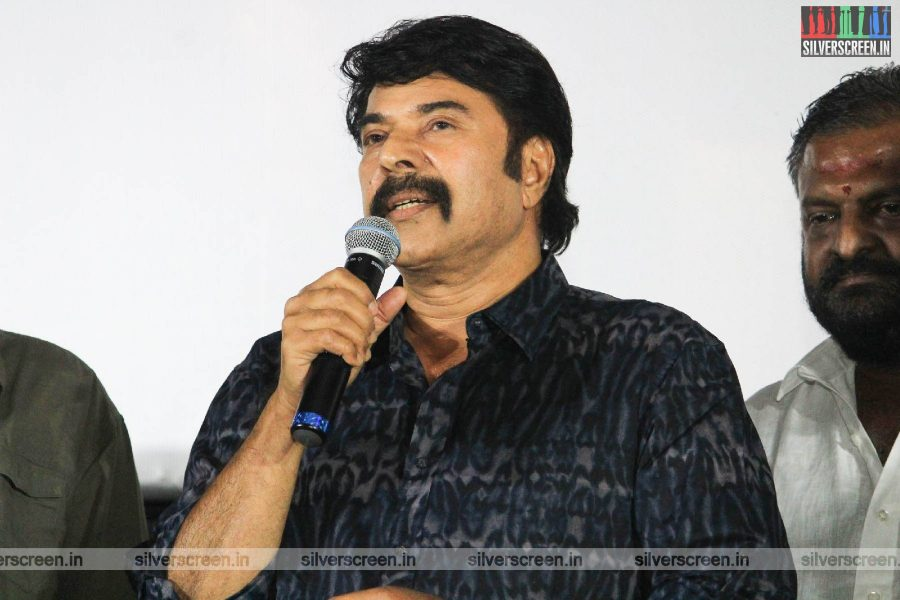 Mammootty At The 'Peranbu' Premiere