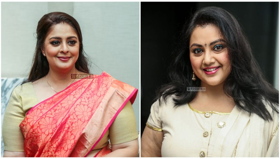 Meena And Nagma At The Launch Of An Award Event