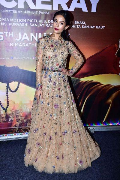 Amrita Rao At The 'Thackeray' Audio Launch