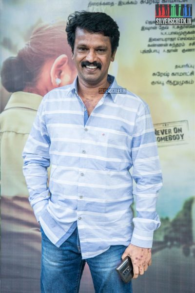 Cheran At The 'Miga Miga Avasaram' Trailer Launch