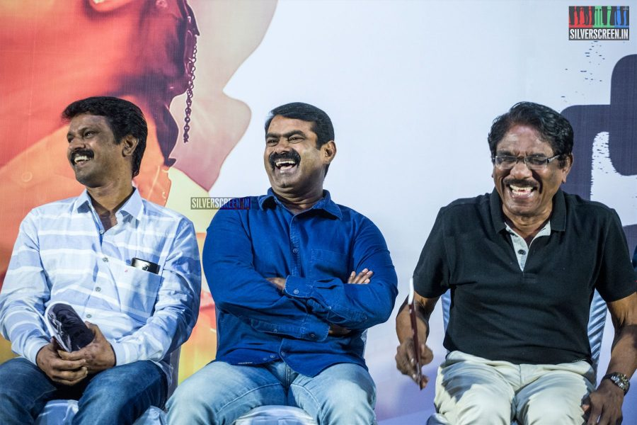 P Bharathiraja, Cheran, Seeman At The 'Miga Miga Avasaram' Trailer Launch