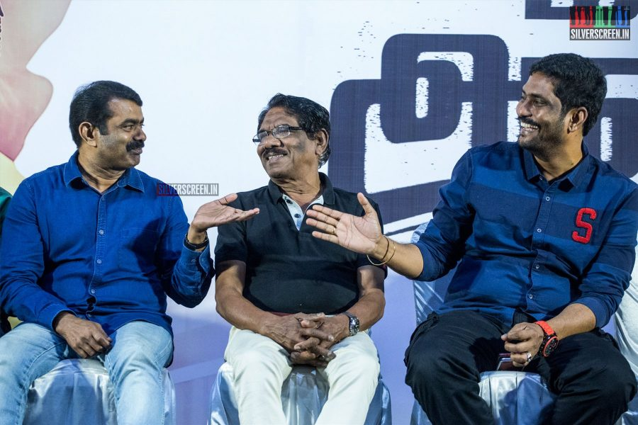 Seeman, P Bharathiraja, Suresh Kamakshi At The 'Miga Miga Avasaram' Trailer Launch