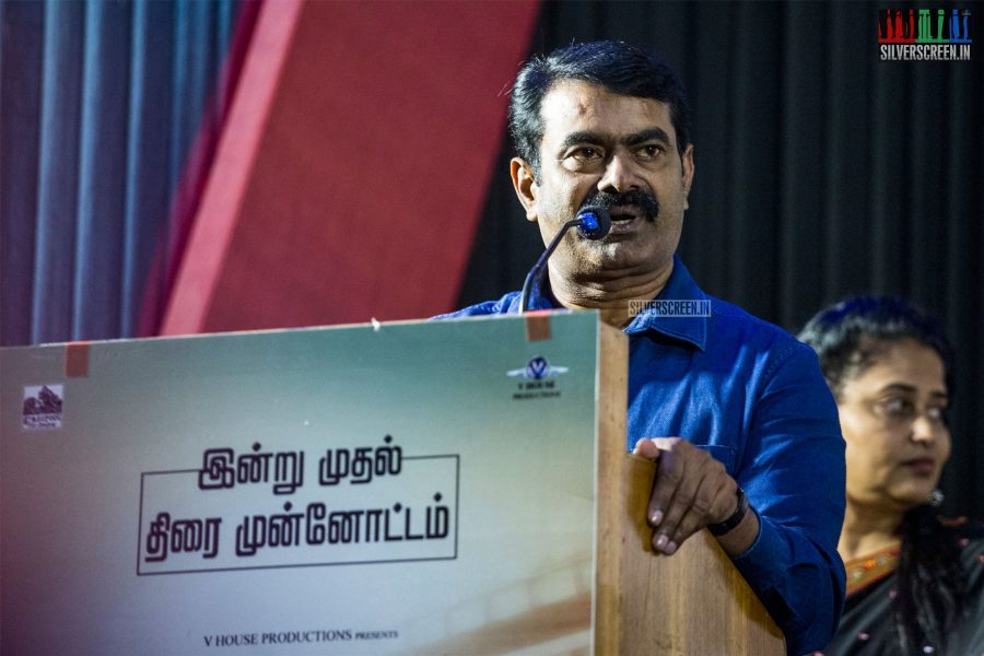 Seeman At The 'Miga Miga Avasaram' Trailer Launch
