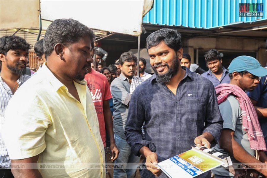 Pa Ranjith At The Irandam Ulagaporin Kadaisi Gundu Movie Launch