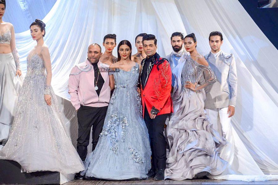 Tabu, Karan Johar At The 'Lakme Fashion Week Spring Summer 2019'