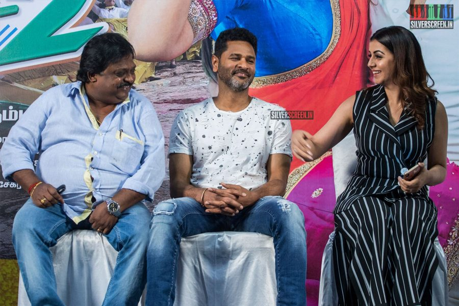 Prabhu Deva, Nikki Galrani, Sakthi Chidambaram At The 'Charlie Chaplin 2' Press Meet