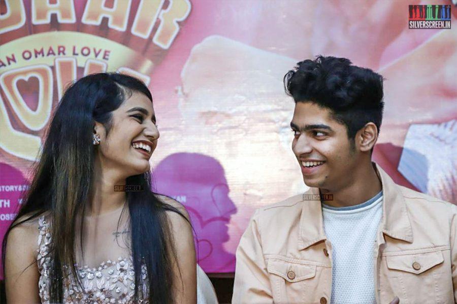 Roshan, Priya Prakash Varrier At The 'Oru Adaar Love' Press Meet