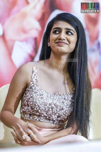 Priya Prakash Varrier At The 'Oru Adaar Love' Press Meet