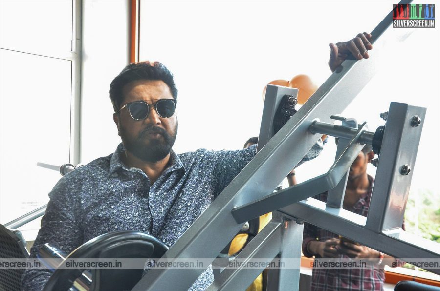R Sarathkumar At The Launch Of A Fitness Studio In Chennai