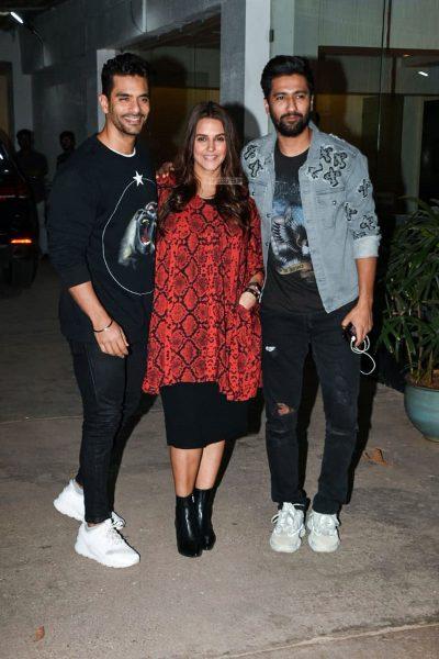 Neha Dhupia, Vicky Kaushal At The 'Uri' Premiere