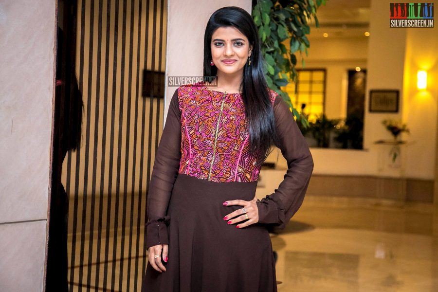 Aishwarya Rajesh At The 'Kanaa' Success Meet