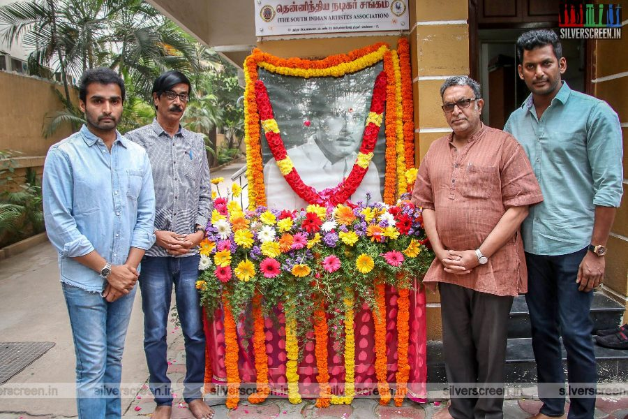 Vishal, Nasser Honours Former Chief Minister MGR on His 102 Birth Anniversary