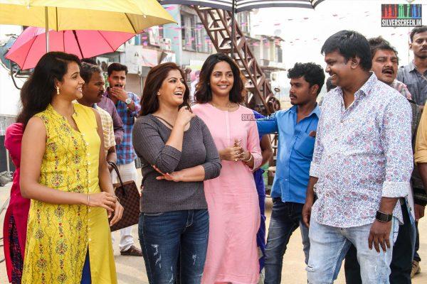 Varalaxmi Sarathkumar, Aishwarya Dutta, Ashna Zaveri At The 'Kannitheevu' Movie Launch