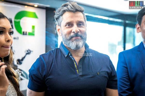 Vikram At The Launch Of A Fitness Gym In Chennai