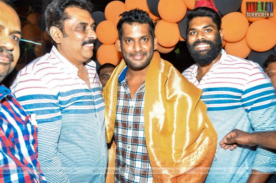 Vishal At The Launch Of ' V Square' Sports Academy