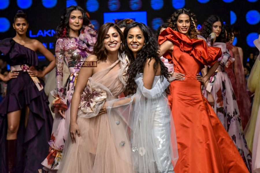Yami Gautam Walks The Ramp For Gauri And Nainika At Lakme Fashion Week Summer/Resort 2019