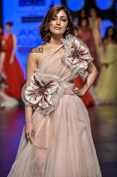 Yami Gautam Walks The Ramp For Gauri And Nainika At Lakme Fashion Week Summer/Resort 2019