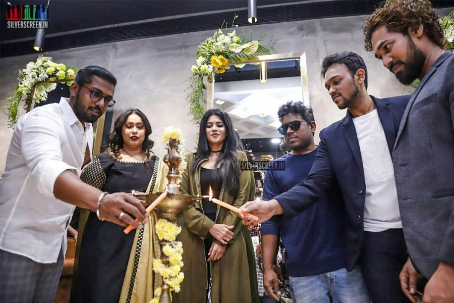 Yuvan Shankar Raja, Megha Akash At The Launch Of A Luxury Style Bar In Chennai
