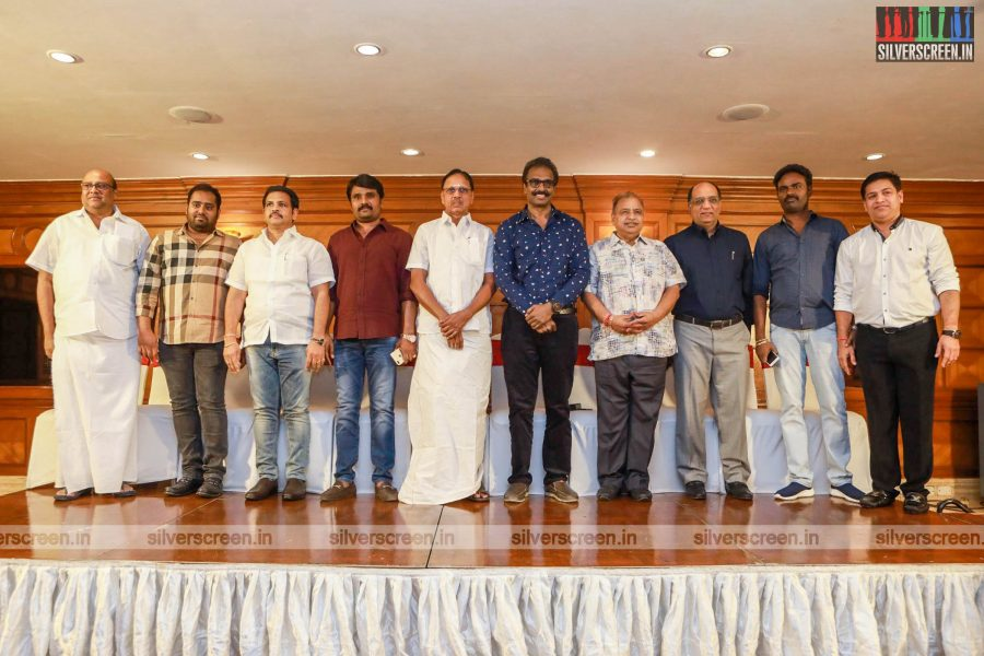 Abinesh Elangovan, Arun Pandian And Others At The Launch Of South Indian Film Financiers Association