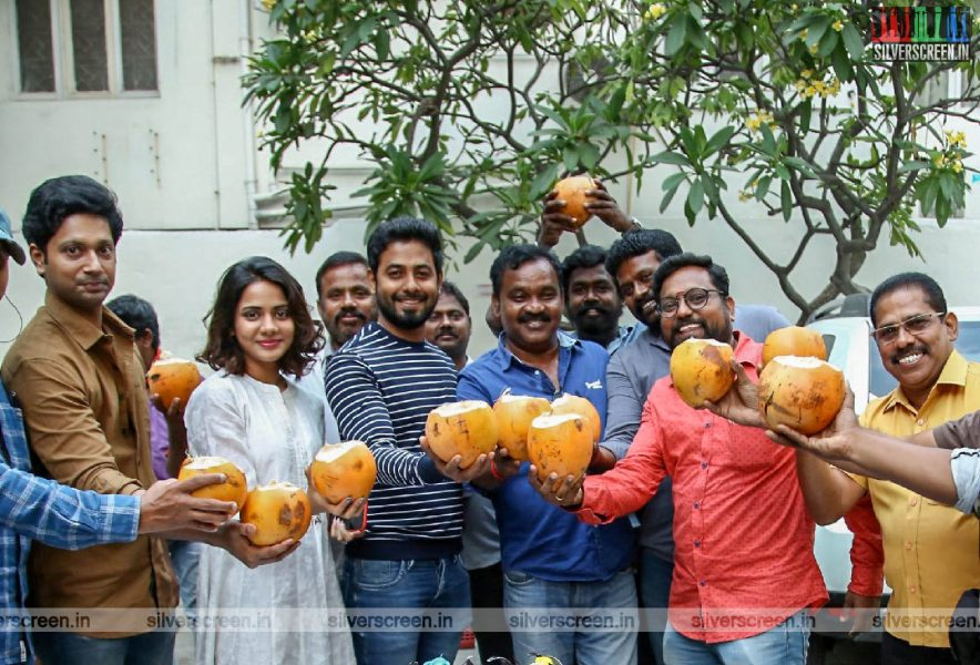 Actor Aari Celebrates Organic Birthday On Aleka Sets