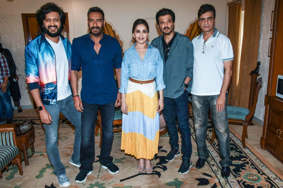 Ajay Devgn, Madhuri Dixit, Anil Kapoor Promote 'Total Dhamaal'