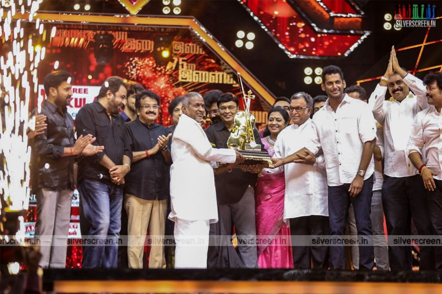 Vishal, Nasser At The 'Ilaiyaraaja 75' Event In Chennai