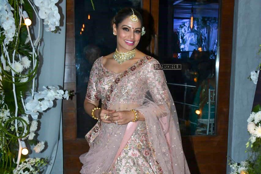 Bipasha Basu Arrives At Vijayeta Basu, Karan Talreja Wedding In an Outfit Designed by Dolly J And Styled By Eshaa Amiin