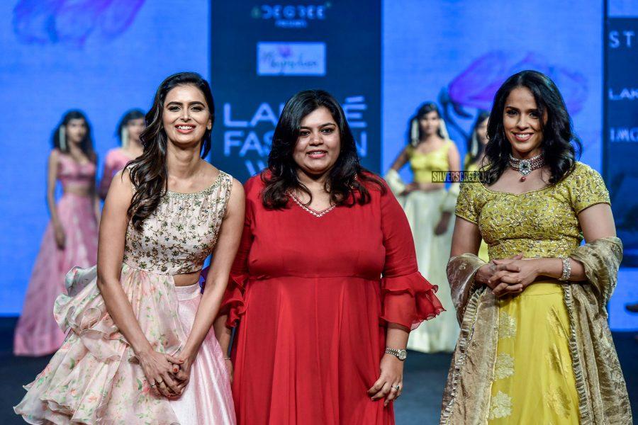 Saina Nehwal Walks The Ramp At Lakme Fashion Week Summer/ Resort 2019