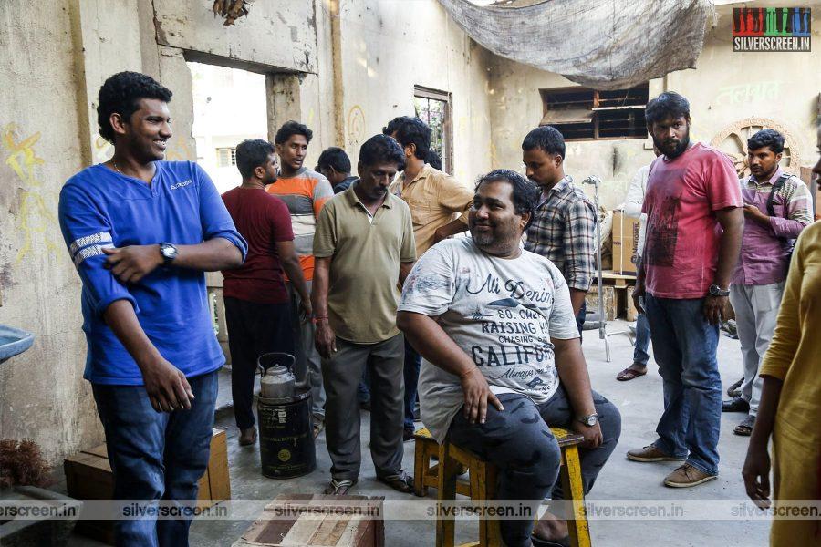 CV Kumar On The Sets Of Gangs Of Madras