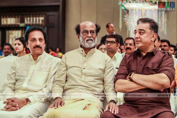 Kamal Haasan At The Vishagan-Soundarya Wedding