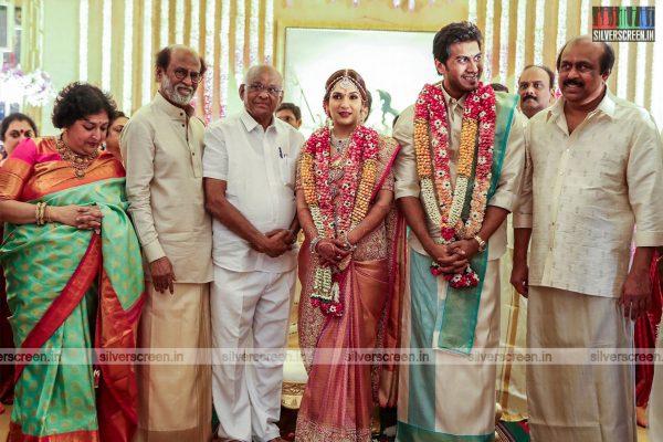 SP Muthuraman At The Vishagan-Soundarya Wedding