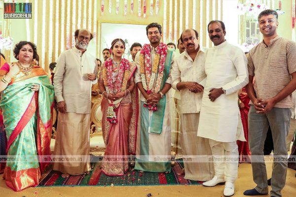 Vairamuthu At The Vishagan-Soundarya Wedding