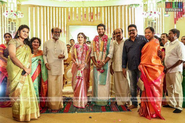 KS Ravikumar At The Vishagan-Soundarya Wedding