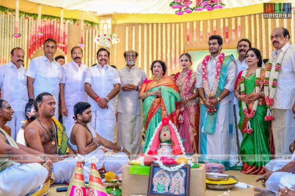 Tamil Nadu Chief Minister Edapadi Palani Samy At The Vishagan-Soundarya Wedding