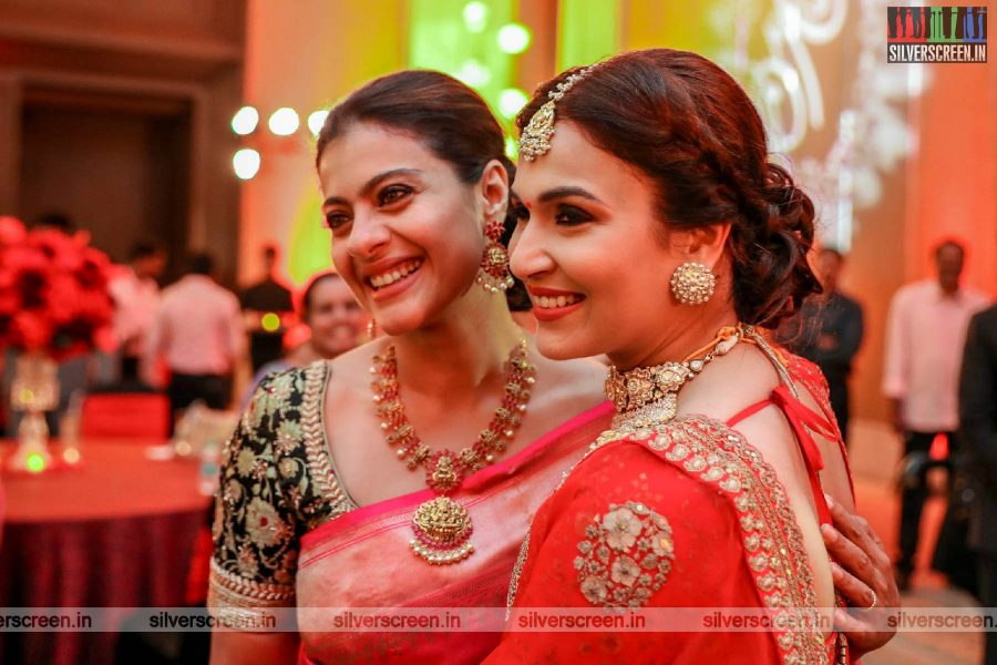 Kajol At Vishagan-Soundarya Wedding