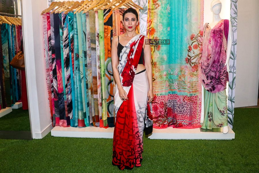 Karisma Kapoor At The Launch Of Satya Paul Winter Blossom Collection