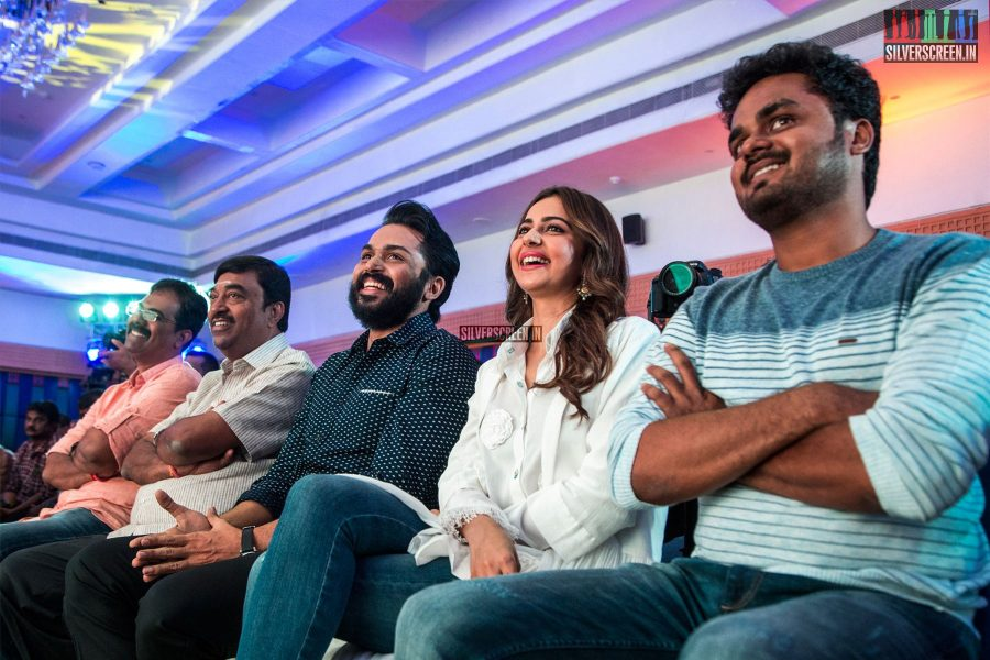 Karthi Sivakumar, Rakul Preet Singh At The 'Dev' Press Meet