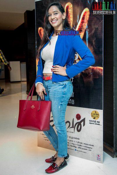 Sanjana Singh At The 'Aghavan' Audio Launch