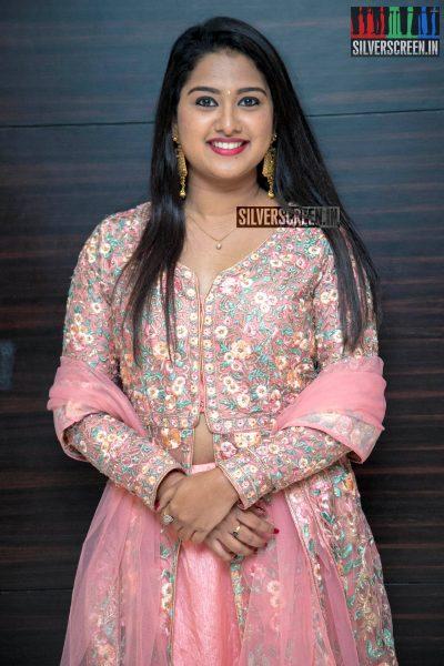 Chirashree Anchan At The 'Aghavan' Audio Launch