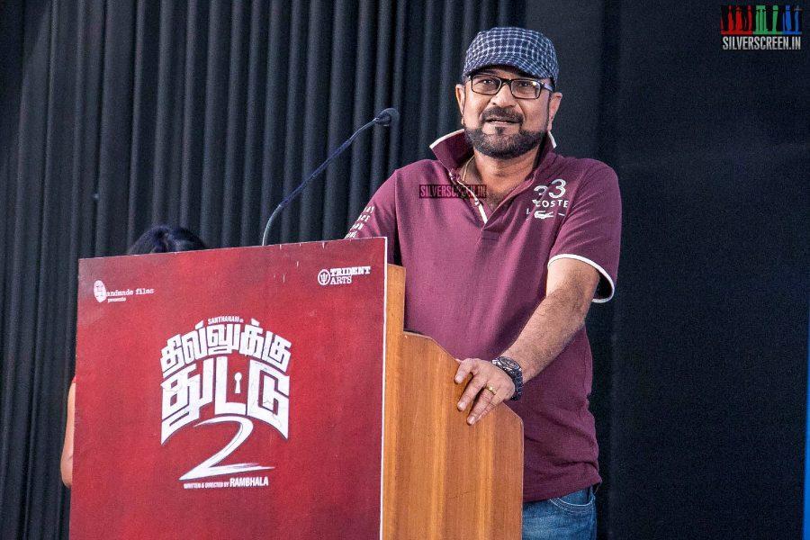 Celebrities At The Dhilluku Dhuddu 2 Press Meet