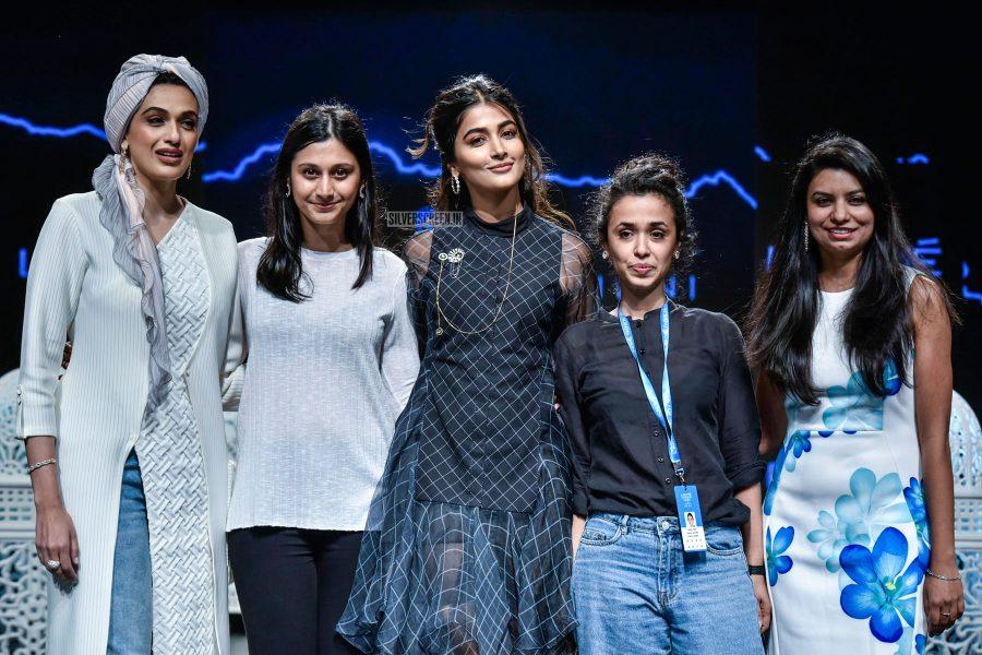 Pooja Hegde Walks The Ramp For Saaksha And Kinni At Lakme Fashion Week Summer/ Resort 2019