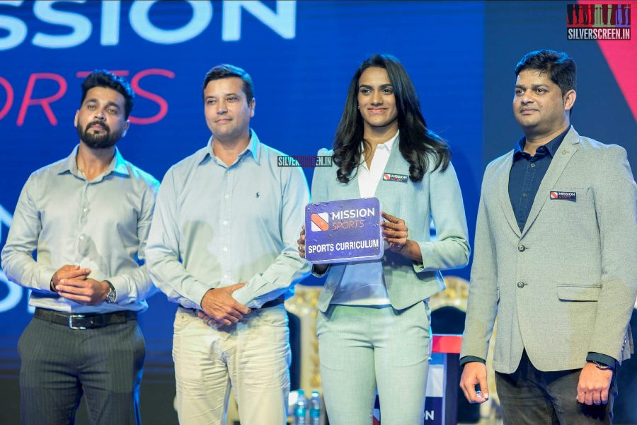 PV Sindhu And Murali Vijay At The Launch Of A Sports Education Program