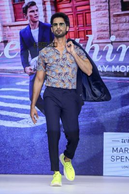 Shahid Kapoor Walks The Ramp For Marks & Spencer Spring Collection