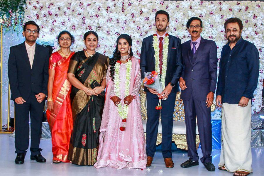 Saranya Ponvannan At Harish-Priya Wedding Reception